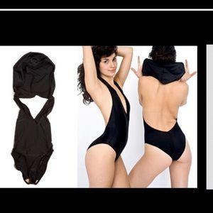American Apparel hooded bodysuit